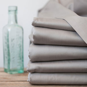 Silver 400TC Flat Sheets from Beaumont & Brown