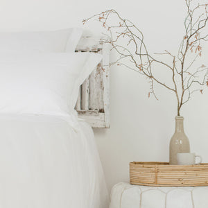 White 2 Row Corded Pillowcases from Beaumont & Brown