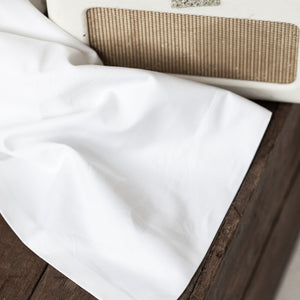 White Flat Sheets from Beaumont & Brown