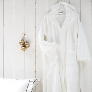 White Hooded Bath Robe