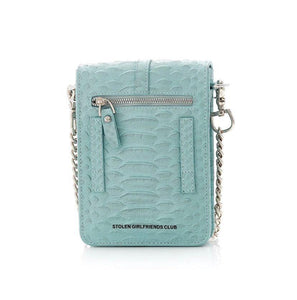 STOLEN GIRLFRIENDS CLUB HISS SATCHEL AQUA