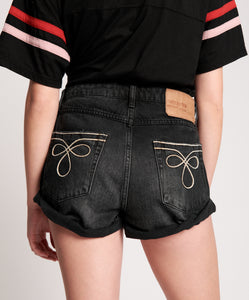 ONE TEASPOON WORN BLACK ROYALE BANDIT MID WAIST