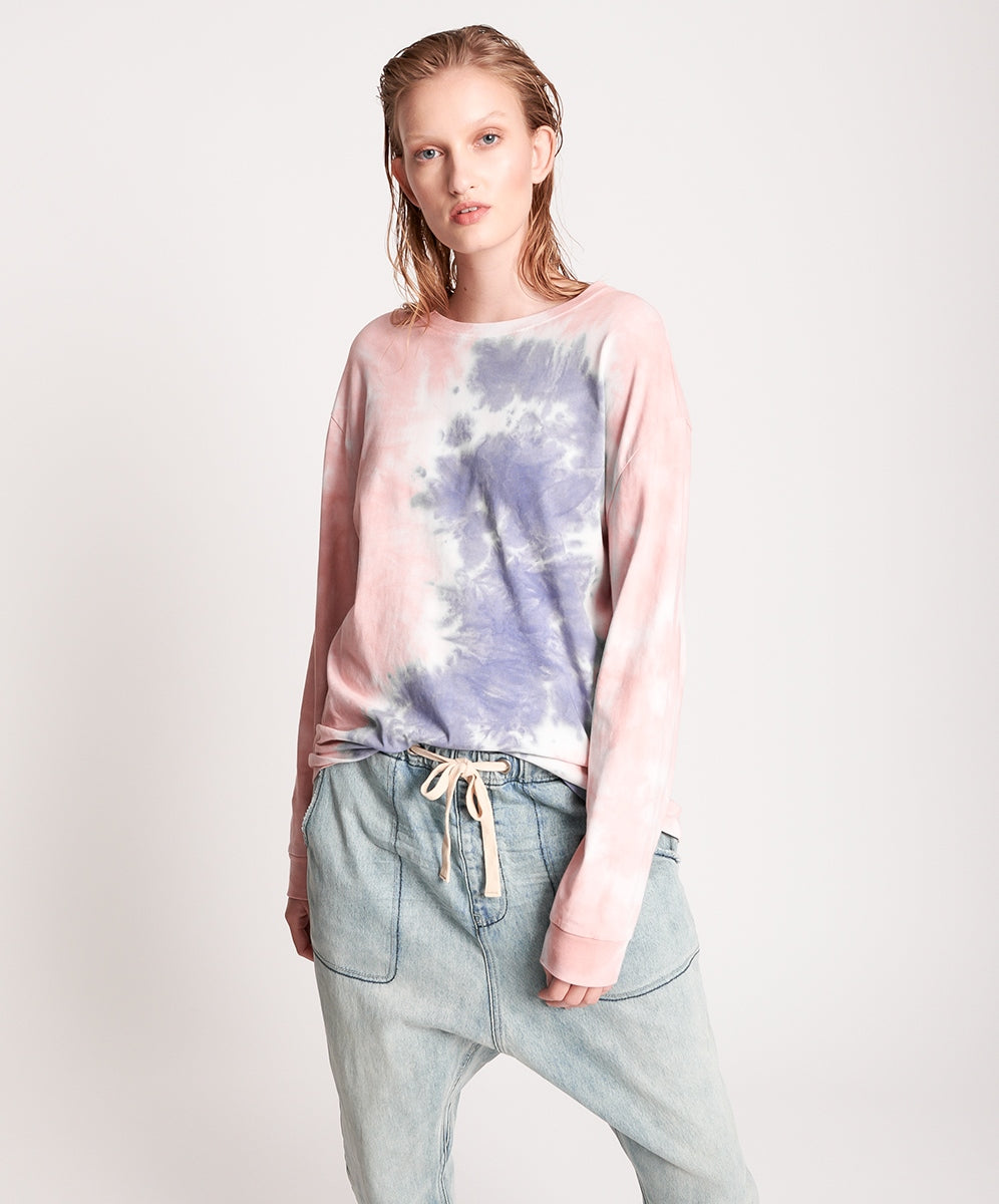 ONE TEASPOON LILAC SMOKE TIE DYE LONGSLEEVE