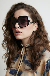 KAREN WALKER CELESTIAL SUNGLASS BLACK