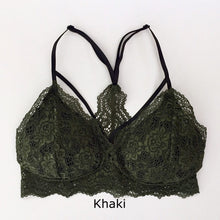 Load image into Gallery viewer, MINICAMI SOFTCUP STRAP FRONT BRALETTE KHAKI