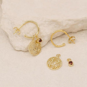 GOLD ROOT CHAKRA HOOPS - I AM PRESENT