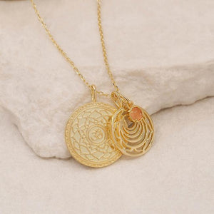 GOLD SCARAL CHAKRA NECKLACE- I HONOUR MYSELF