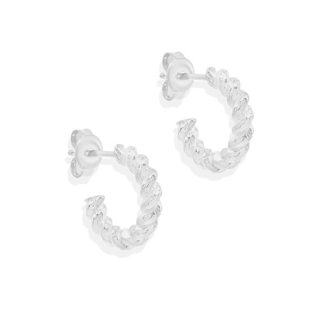 SILVER DIVINE FATE SMALL HOOPS