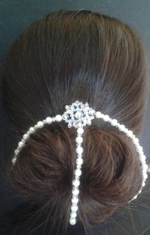 Beautiful handmade Chignon bun wrap hair accessory decoration