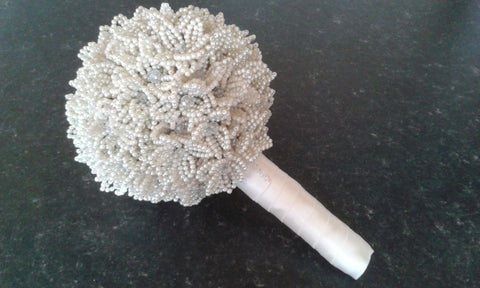 Beautiful Handmade 'Eternity Bridal Beaded Bouquet'