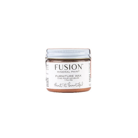Fusion | Copper Furniture Wax jar on a white background.