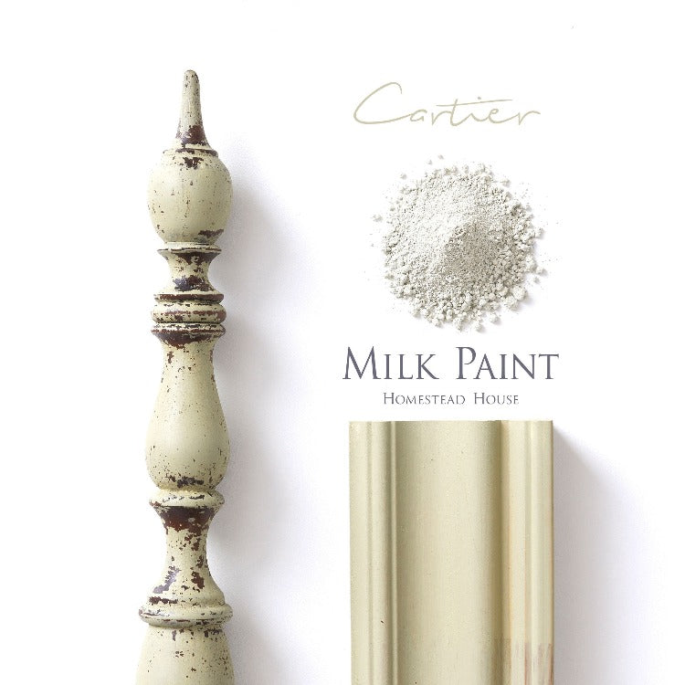 Homestead House Milk Paint | Cartier paint samples on white background.