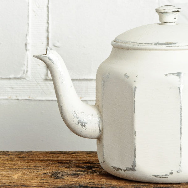 Fusion Mineral Paint | Teapot on wood with white background