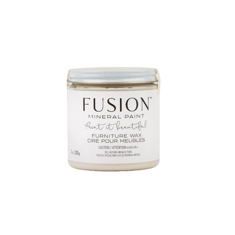 Fusion | Clear Furniture Wax jar on a white background.