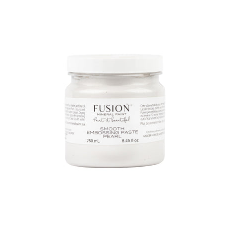 Fusion | Smooth Embossing Paste (Pearl) jar on white background.