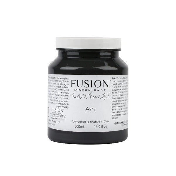 Fusion Mineral Paint |Ash on white background.
