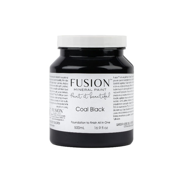 Fusion Mineral Paint | Coal Black on white background.