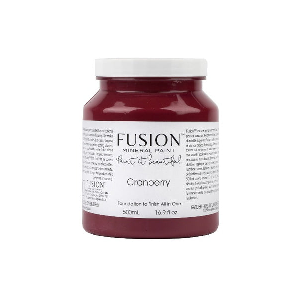 Fusion Mineral Paint | Cranberry on white background.