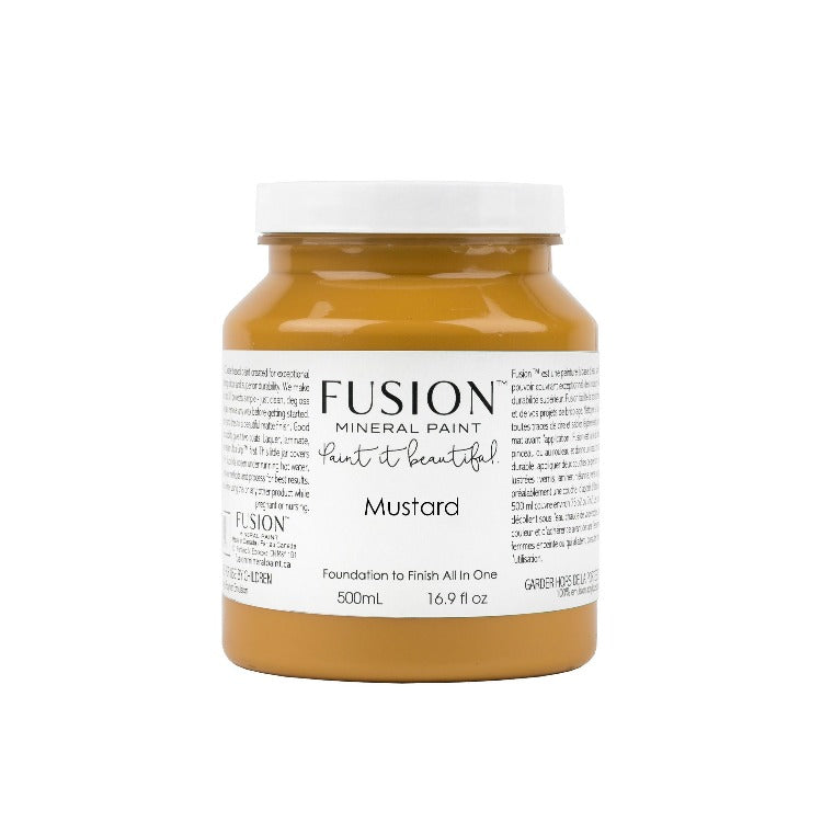 Fusion Mineral Paint | Mustard on white background.