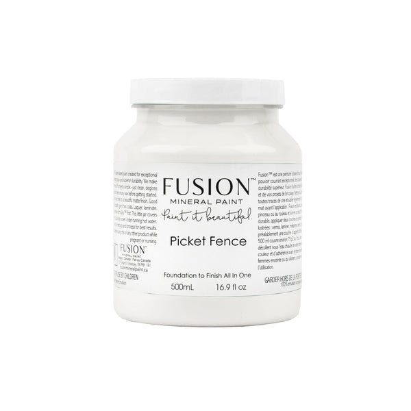 Fusion Mineral Paint | Picket Fence on white background.