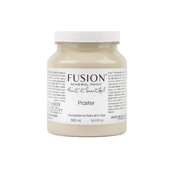 Fusion Mineral Paint | Plaster on white background.