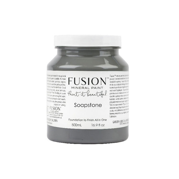 Fusion Mineral Paint | Soapstone on white background.