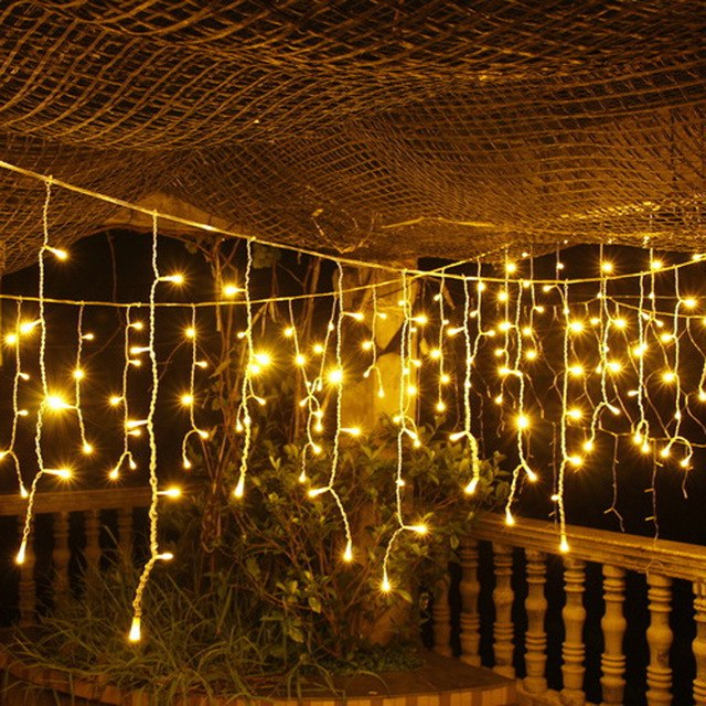 1pc 220V 120 LED String Solar Festive  Lights