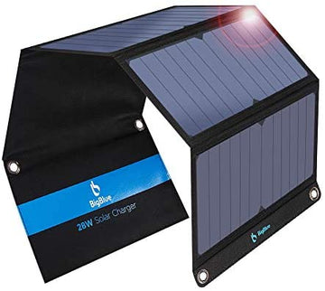BigBlue 3 USB Ports 28W Portable Solar Phone Charger