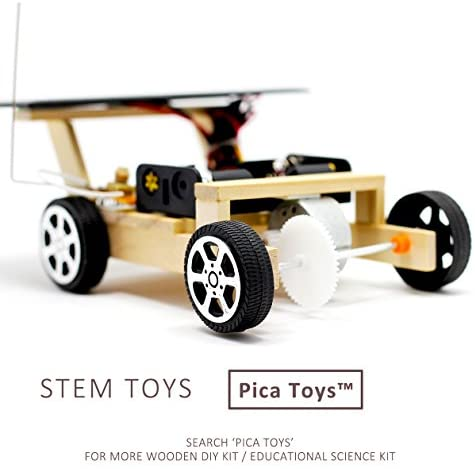 Pica Toys Wooden Solar and Wireless Remote Control Car