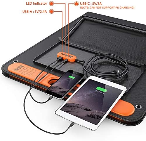 Jackery Solar 100W Foldable US Solar Cell Solar Charger with USB Outputs