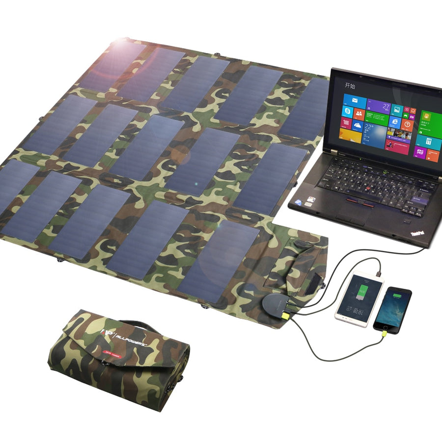 100W Foldable Solar Mobile Device Charger
