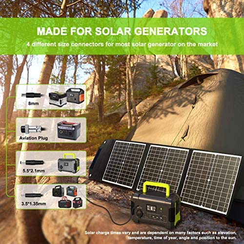 PaXCESS Solar Panel, 120W  Portable Solar Panel w/ QC 3.0, Type C Output
