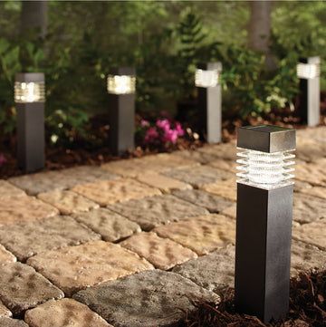 Sterno Home 6-Pack Black Solar Bollard Lights