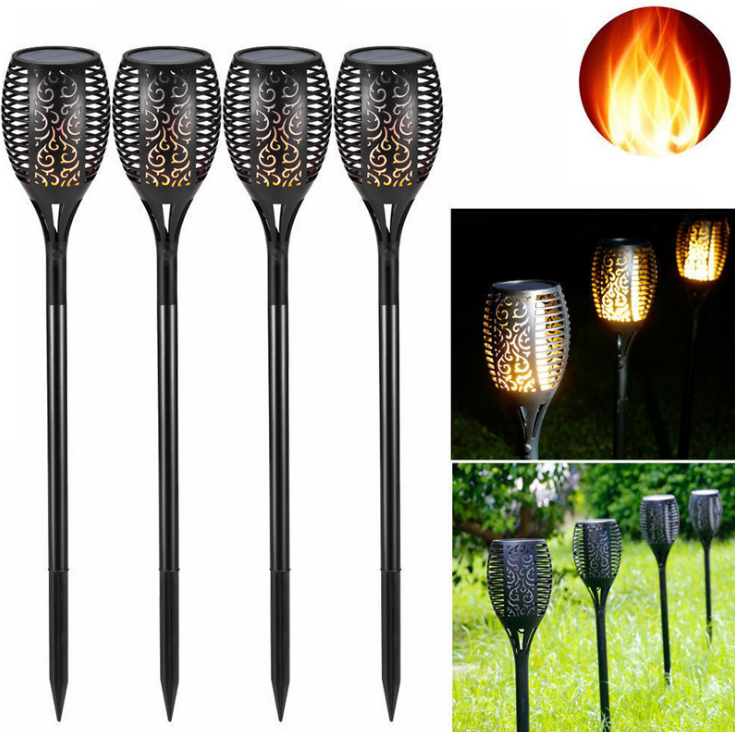Solar Flame Flickering Lawn Lamp