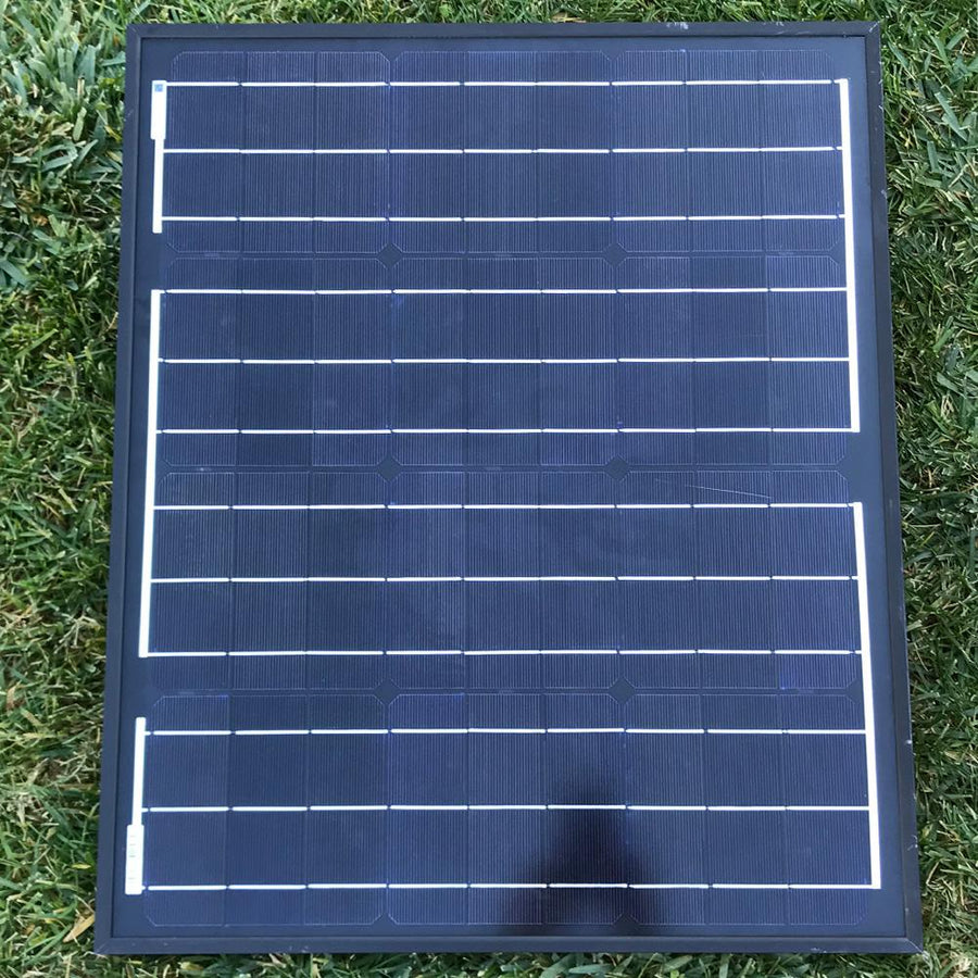 ACOPOWER 50 Watts All Black Portable Solar Panel, 12V