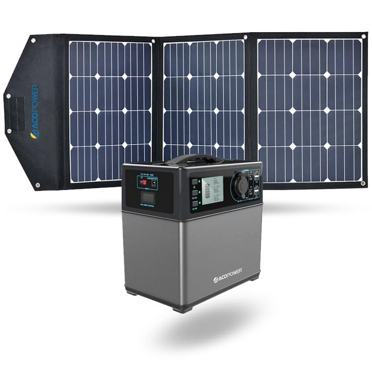 ACOPOWER 400Wh Generator and 105W Portable Solar Panel Kit
