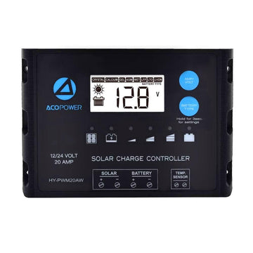 ACOPOWER Waterproof ProteusX 20A PWM Solar Charge Controller