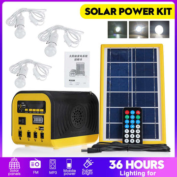 Solar  Bluetooth Generator Kit + 3 LED Bulbs