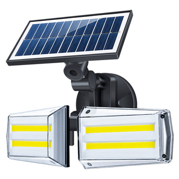 Dual Head Solar Motion Sensor Spotlight