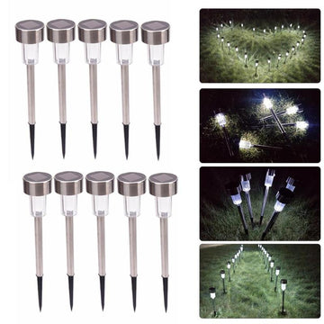 10Pcs 5W Solar Lights Outdoor LED Walkway Lights