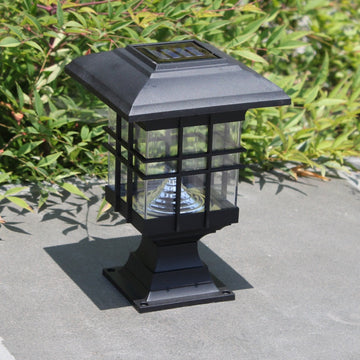 Motion Sensor Solar Powered Pathway Wall Lamp