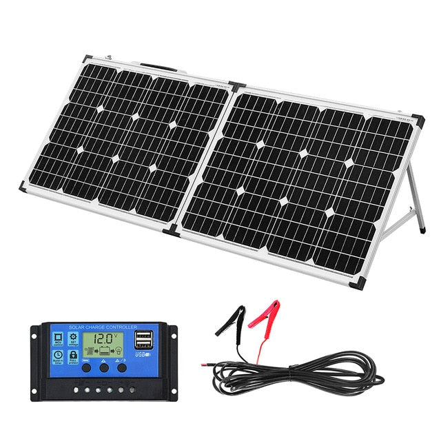 100W (2Pcs x 50W) Foldable Solar Panel kit