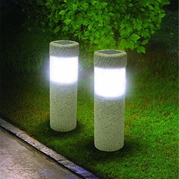 Sand Blast-Solar Pathway Mini Column Lights