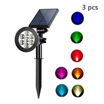 Adjustable Color-Changing  Solar Spotlight