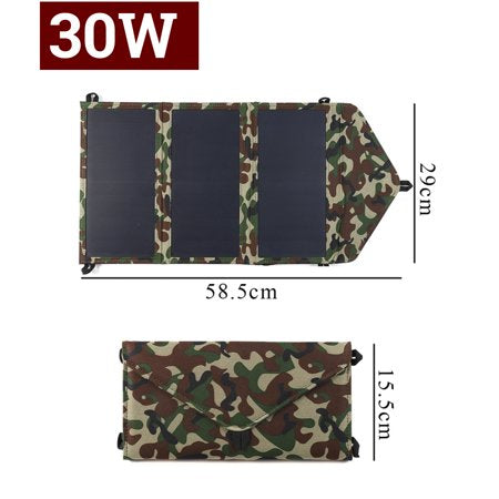 30W Solar Panel Cell Phone Power Bank