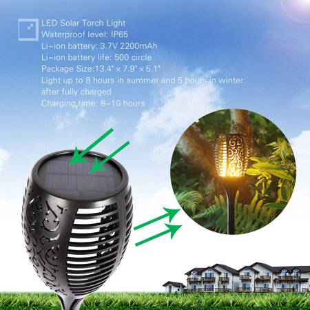 Loryro (2 pack) Solar torch