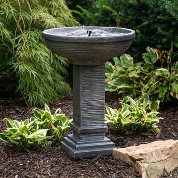 Belham Living Wallingford Stacked Stone Solar on Demand Outdoor Fountain