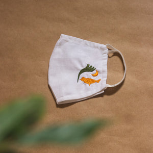 Embroidered face masks | Elegant and aesthetic designs | Khadi cotton | Breathable | Sustainable