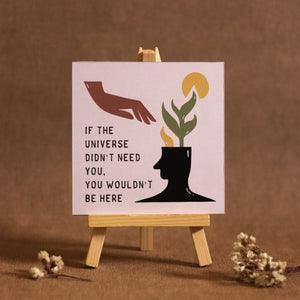 Mini wooden easel art to motivate and warm up your space | Home decor | Desk decor