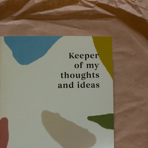 Keeper of my thoughts and ideas - Diary/Notebook